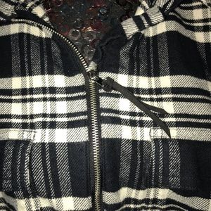 Chaps Sweaters - Chaps 2X Plus Buffalo Plaid Flannel Top zip up